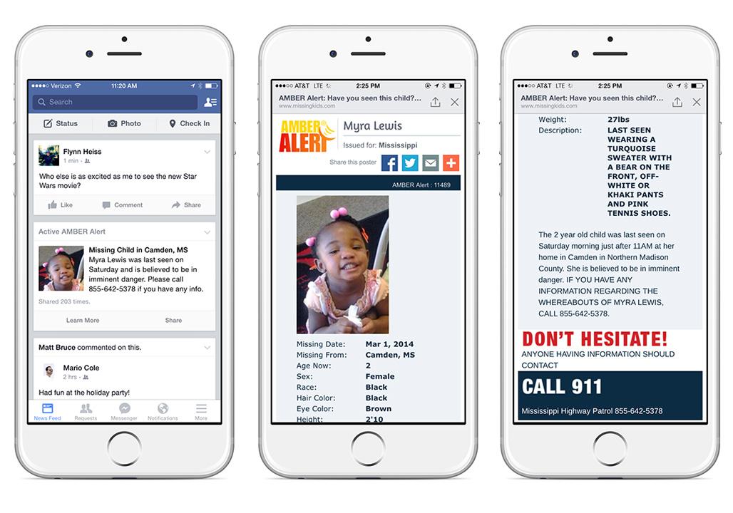 Facebook Amber Alerts